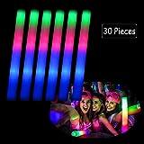 20X DJ Flashing Glow Stick LED Wands Rally Rave Batons Light Up Foam Sticks