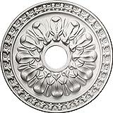 Ekena Millwork CM18WAPCF Warsaw Ceiling Medallion, 18'' OD x 3 1/2'' ID x 1 3/8'' P, Pot of Cream