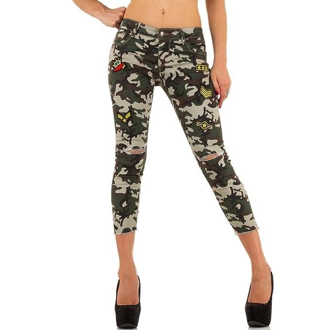 Damen Jeans, DESTROYED CAMOUFLAGE MILITARY SKINNY, KL-J-YYC5086: Amazon.de:  Bekleidung