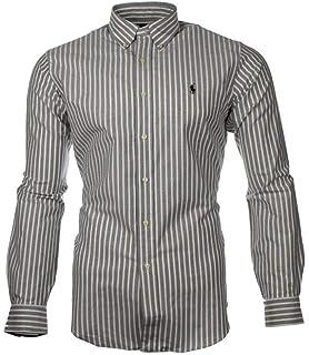 ab8c8e34cf6 Ralph Lauren Polo Men s Custom Fit Poplin Shirt White Navy Black S - XXL