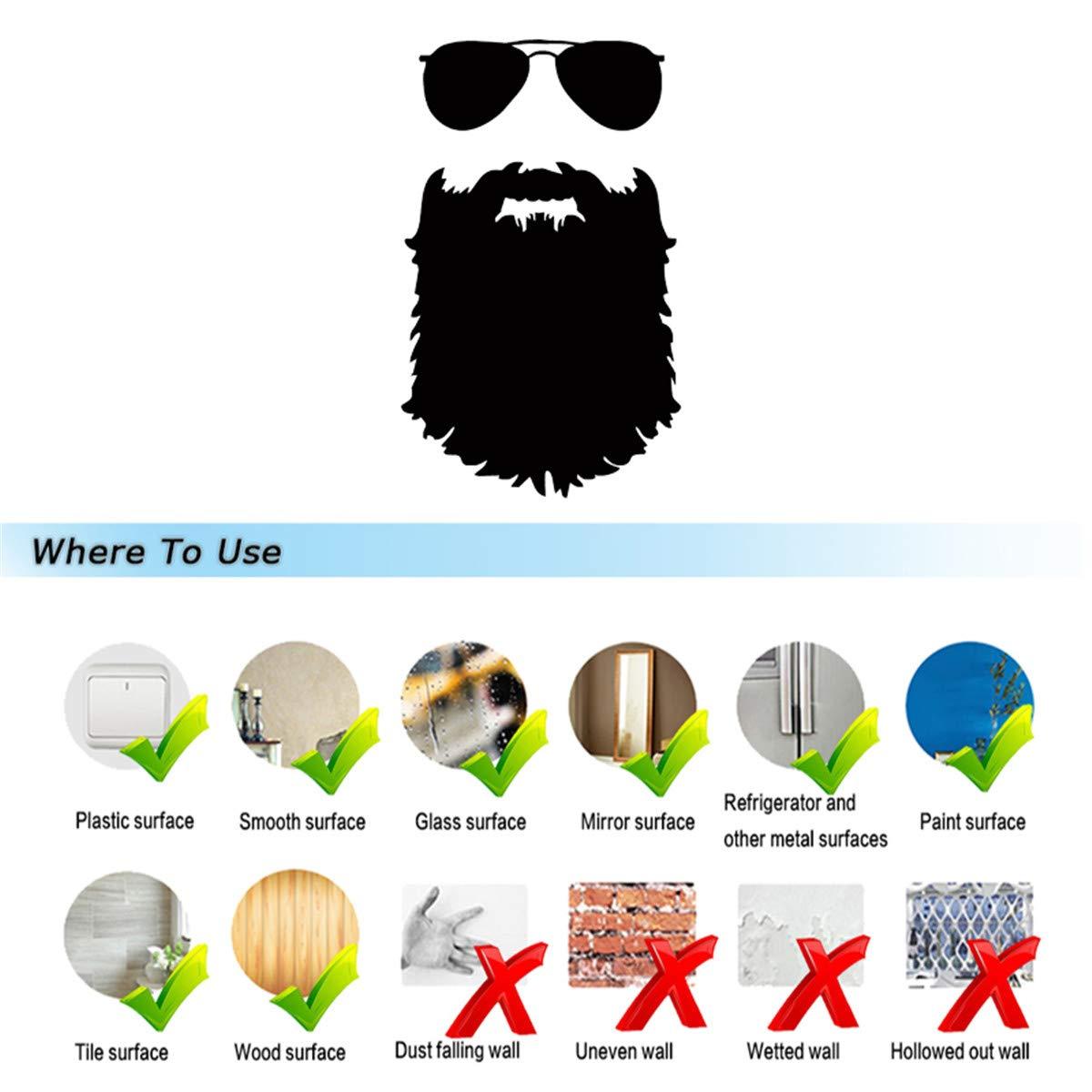 Amazon com pokewin 2pcs beard man car sticker bumper vinyl wall decal sticker automotive