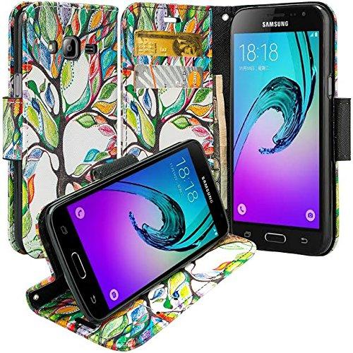 7f4ef25ec9 XYZ® Samsung Galaxy J3 / Galaxy J3 Case / Samsung Galaxy Amp Prime /  Express Prime Slim Leather Luxury Flip Design Wallet Pouch Design Case (Purple  Heart)