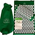 Acupressure Mat and Pillow- Acupuncture Like Benefits for Feet, Back and Neck Pain- Accupressure Therapy Set for Sciatica, Nerve, Foot, Migraine and Stress Relief Without Having to Pay a Specialist.
