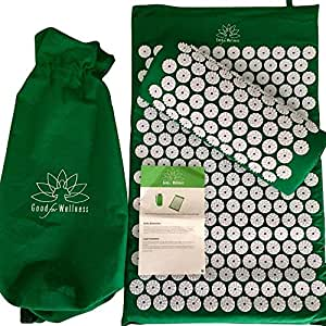 Good For Wellness Acupressure Mat And Pillow | Neck And Back Pain Relief | Sciatica & Lumbar Relief | Migraine & Stress Relief | Back Massager And Neck Pillow | Our Accupressure Mats Provide Pain Relief, Relaxation and Improve Sleep In Minutes