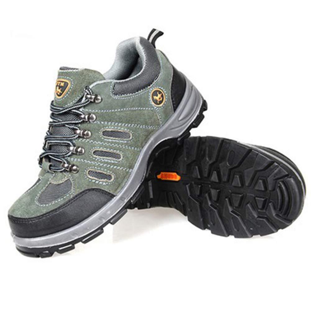 SELCNG Chaussures de randonnée Unisexes Chaussures de Marche imperméables Chaussures de Marche pour Hommes avec Chaussures de randonnée pour Sports de Plein air-vert-38