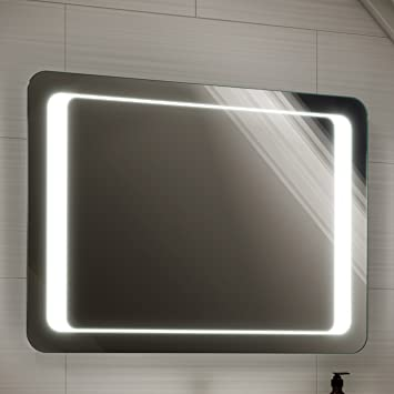 800 X 600 Mm Illuminated LED Bathroom Mirror Light With Sensor Demister ML2112