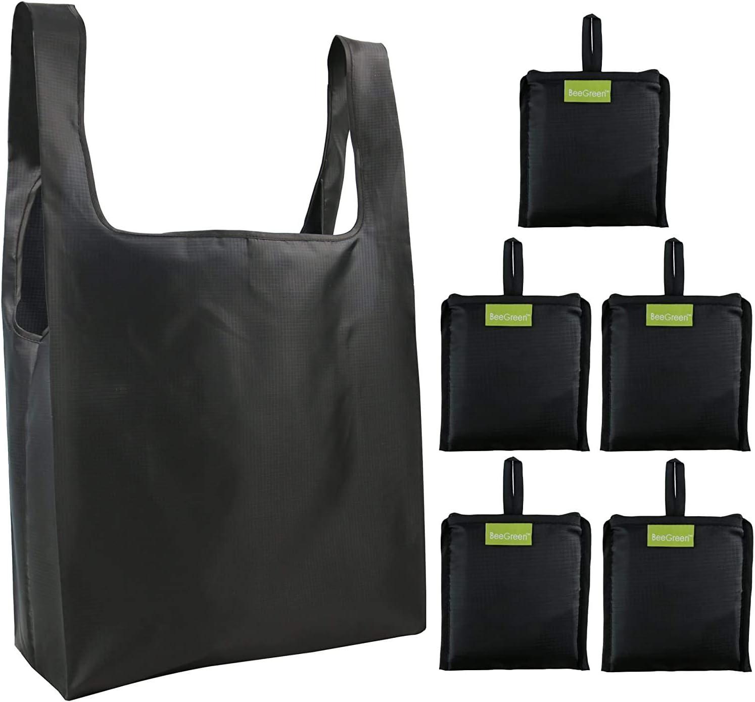 Paquete de 6 Bolsas de Compras Reutilizables Gran Capacidad Duraderas Ligeras Bolsa de Tela para Compra de Comestibles Vegetales INTVN Bolsa de Compras Plegable