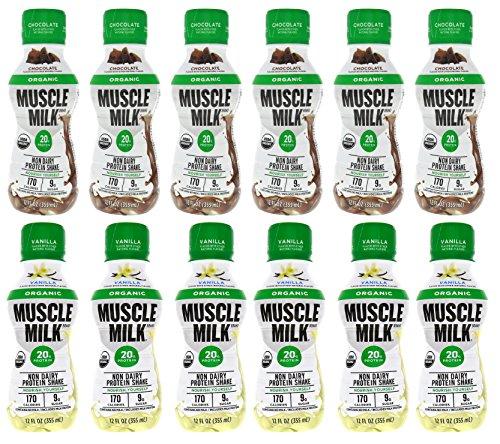 Cytosport Muscle Milk RTD Organic Protein Shake Variety 12 - 12 fl. oz. Bottles