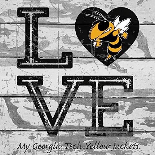 - Prints Charming College Love My Team Logo Square Georgia Tech Yellow Jackets Unframed Poster 13x13 Inches
