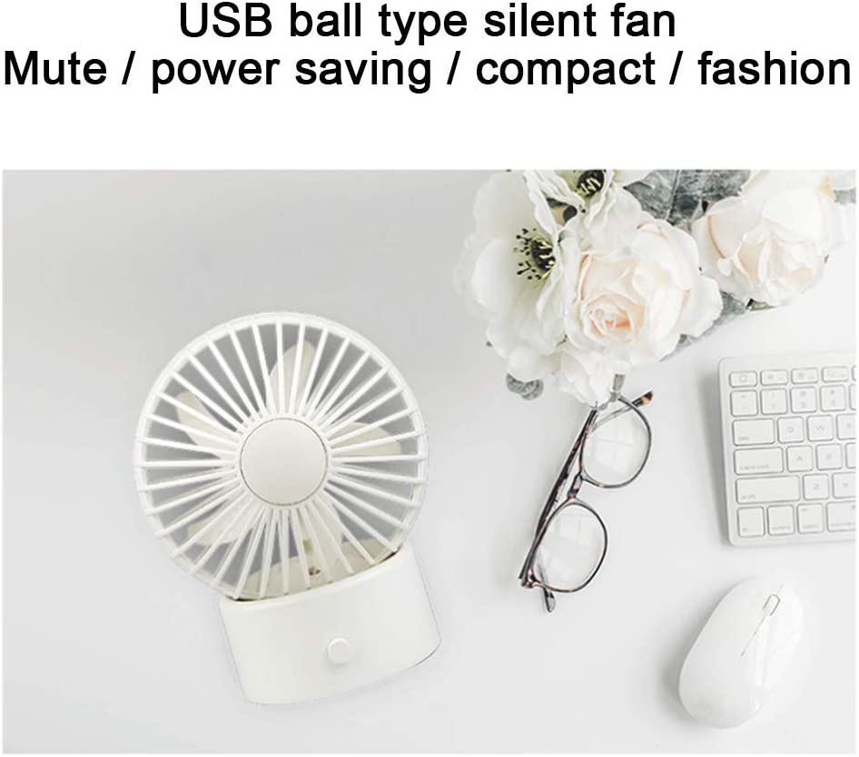 MEETGG Mini Portable USB Fan,Electric Portable 2 Speeds Adjustable Mini Desktop Fan Portable Mini USB Cooling Fan with for Office Home and Travel