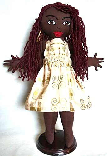 11 inch Doll Natural Hair Styles Collectible Doll Black Doll Maker African American Doll Handcrafted Ethnic Doll Multicultural Doll Hand Painted Black Doll African Inspired