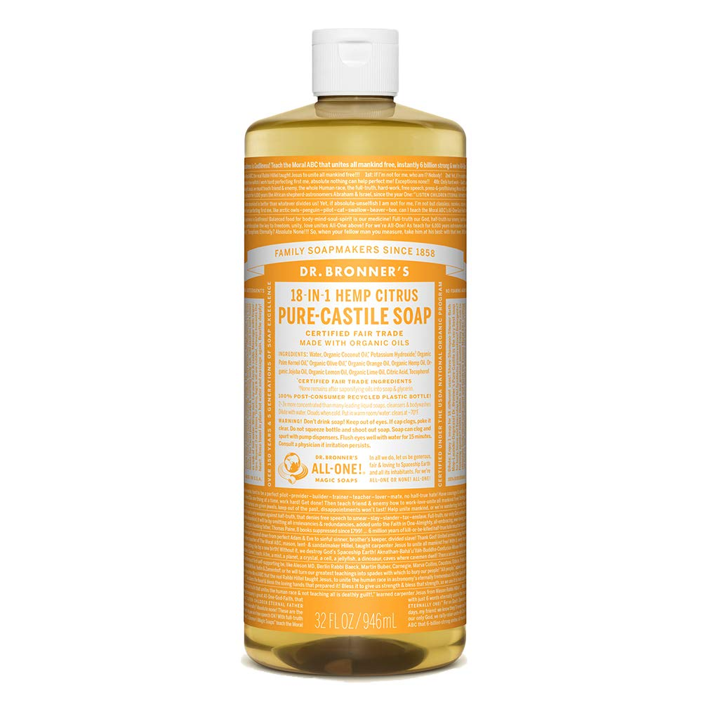 Dr. Bronner's - Pure-Castile Liquid Soap (Citrus, 32 Ounce) by Dr. Bronner's