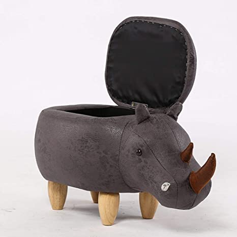 Super Amazon Com Qqxx Cartoon Rhinoceros Animal Soft Pouffe Ocoug Best Dining Table And Chair Ideas Images Ocougorg
