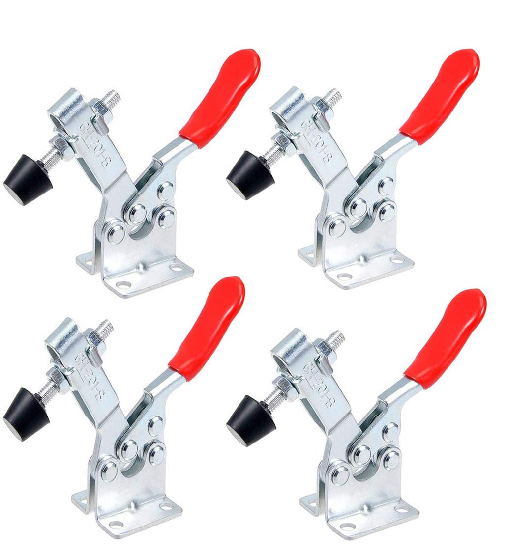 QLOUNI 4pcs Toggle Clamp Antislip GH-201-B Horizontal Quick Release Clamp with