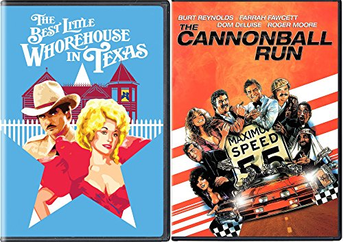 Burt Reynolds 2 Movie Comedy Collection - The Best Little Whorehouse in Texas & The Cannonball Run DVD Bundle