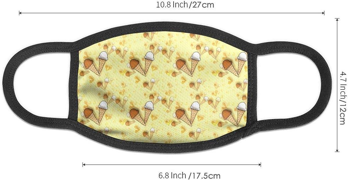 Cartoon Ice Cream Summer Neck Gaiters For Men Women Novelty Bandanas Hallowen Thanksgiving Gift