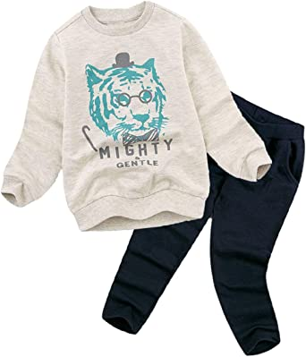 Baby Boy Clothes Cartoon Tops T-shirt Long Sleeve+Pants Casual 2pcs Outfits Set