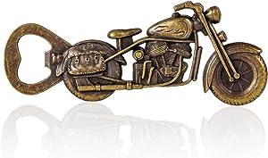 CRMPro Metal Bottle Opener, Vintage Harley Motorcycle Wine Opener with Greeting Card, Heavy Duty Flat Bottle Opener Gift for Men, Home and Bar