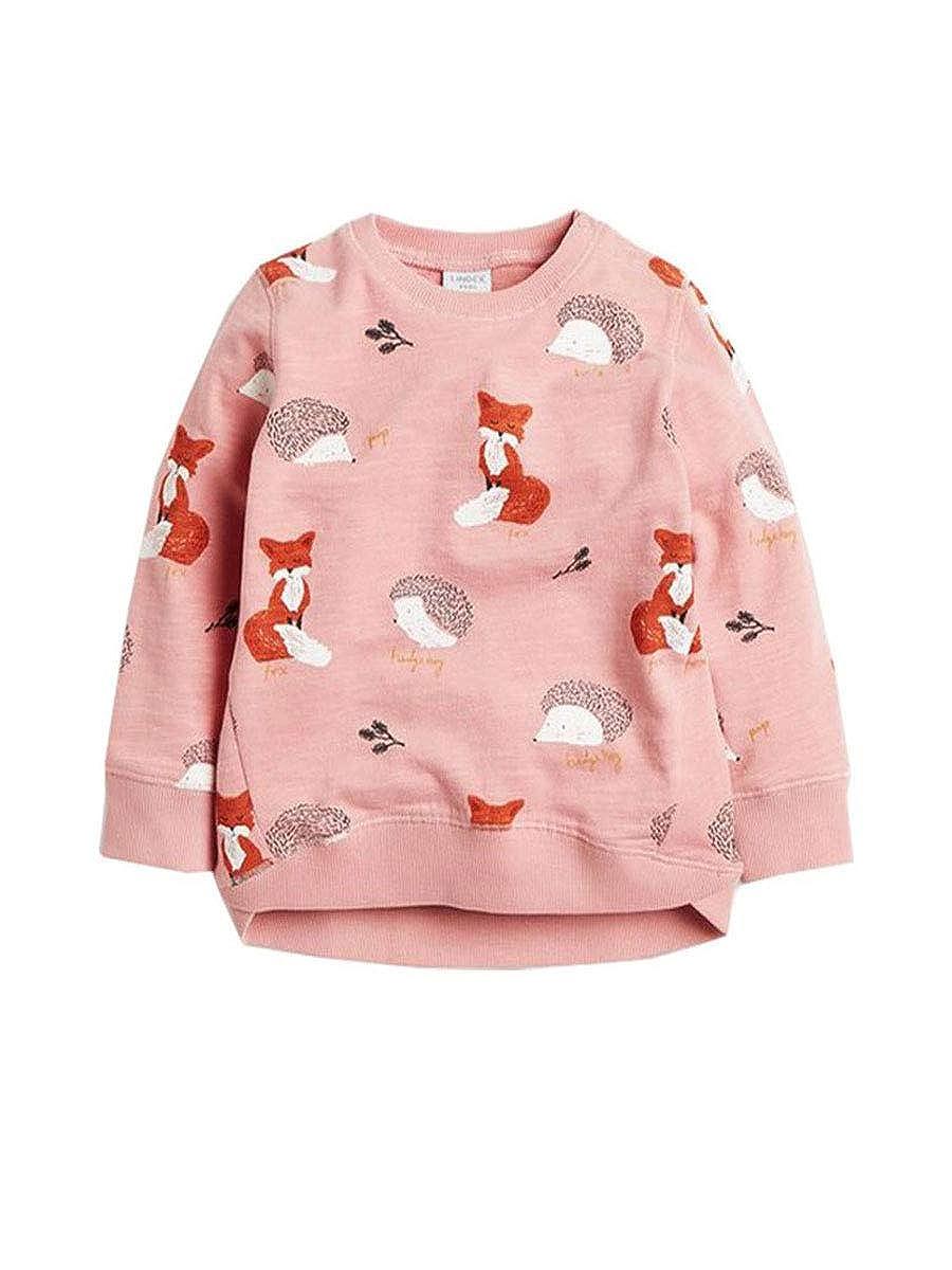 Little Girl' Super Cute Cartoon Print Sport Long Sleeve T-Shirt Stripe Sweatshirt Pullove