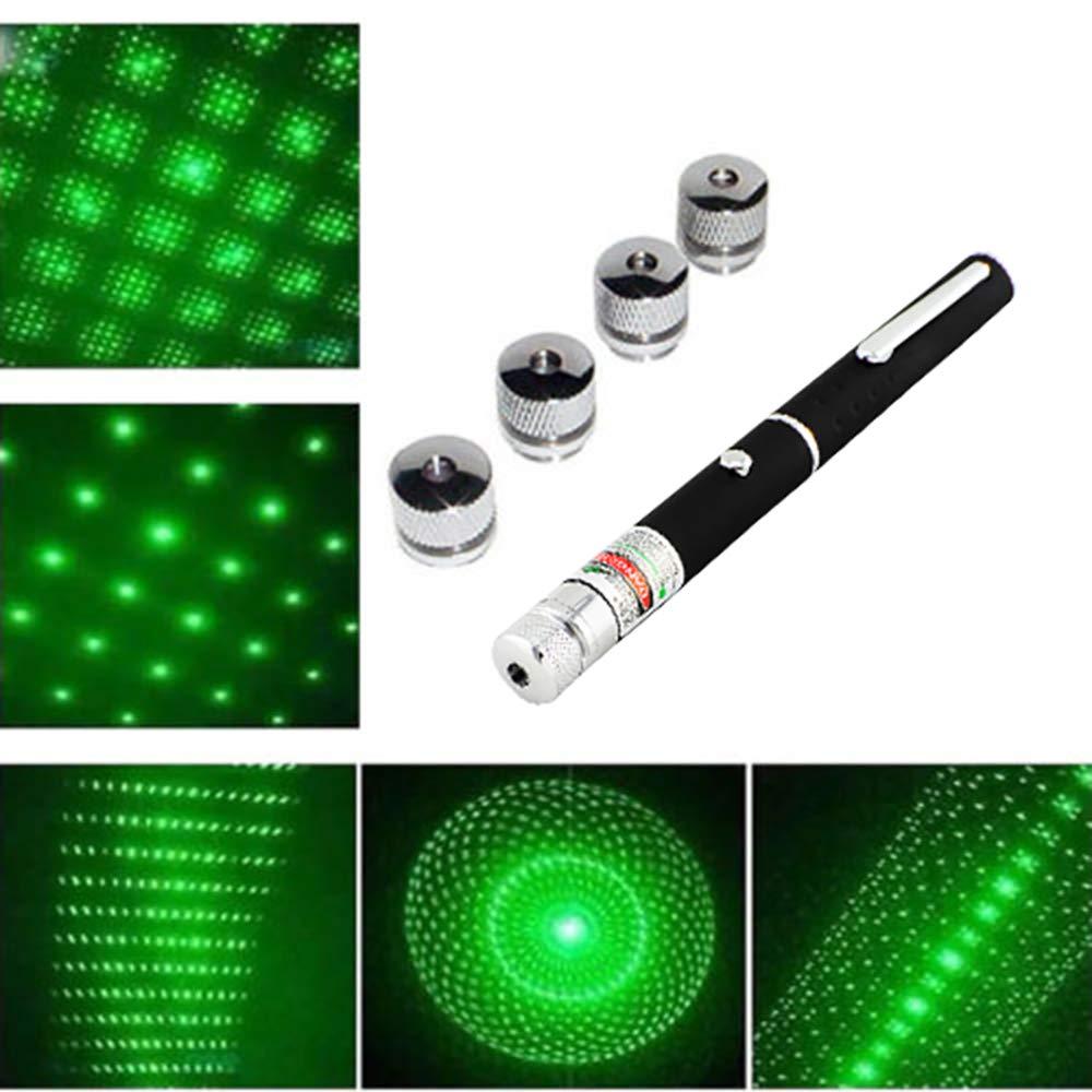 Pevor 6 in 1 Powerful Green Laser Pointer Pen Beam Light 5MW Green Laser High Power 532nm