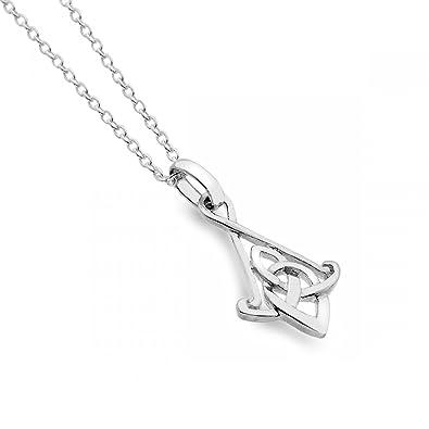 'Cornish' Silver Celtic Knot Pendant QNKxEmz
