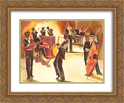 Jazz Classics 2x Matted 24x20 Gold Ornate Framed Art Print by Deborah - Galleria Hoover