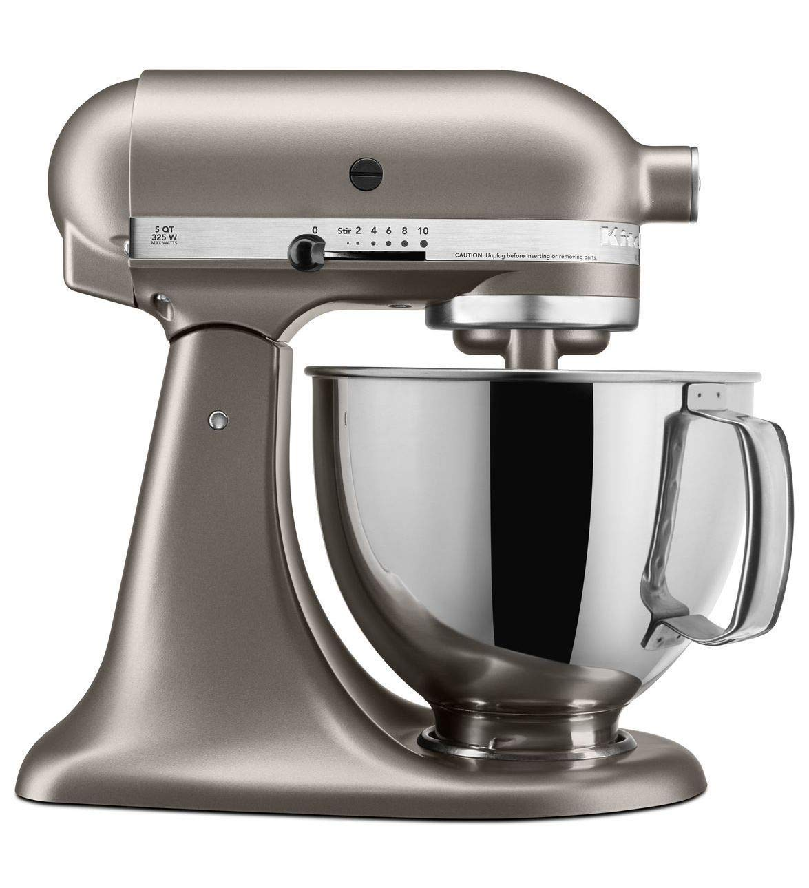 KitchenAid Architect Series 10-Speed 5 Quart Tilt-Head Stand Mixer, Cocoa Silver (Non-Retail Packaging)