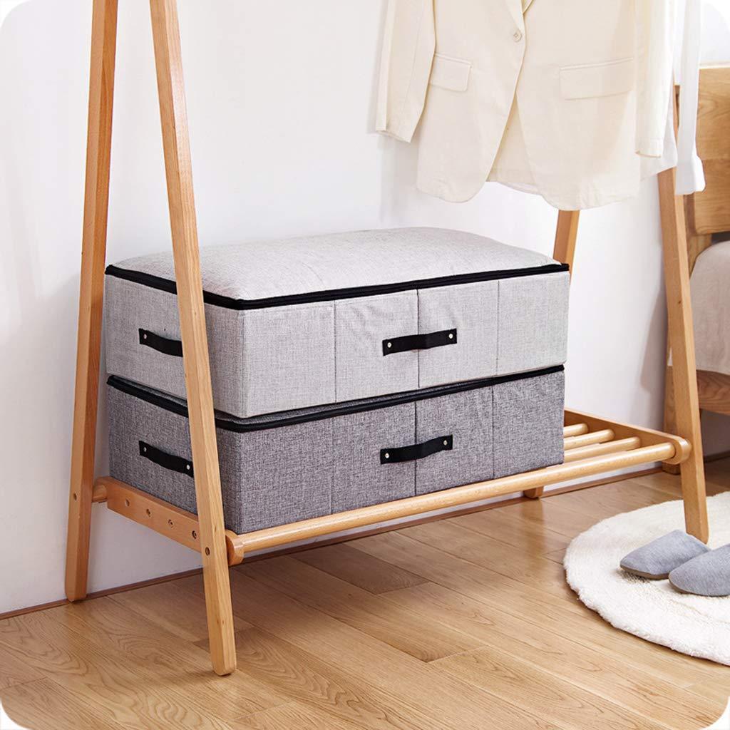 Youliy Sacs de rangement sous le lit pour couvertures v/êtements couettes beige