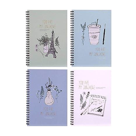 Lvcky A5 Ejercicio Cuaderno Forrado Diario Espiral Libro ...