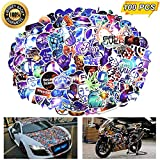 Laptop Stickers, Computer Stickers for Laptop Water Bottles Car Bumper Skateboard Guitar Bike Luggage Kids Waterproof Vinyl Decals Cool Graffiti Stickers Pack (100 Pcs Galaxy Stickers)