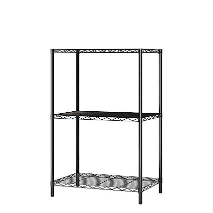 Home-Like 3 pisos Mini y resistente alambre estantería rack de ...