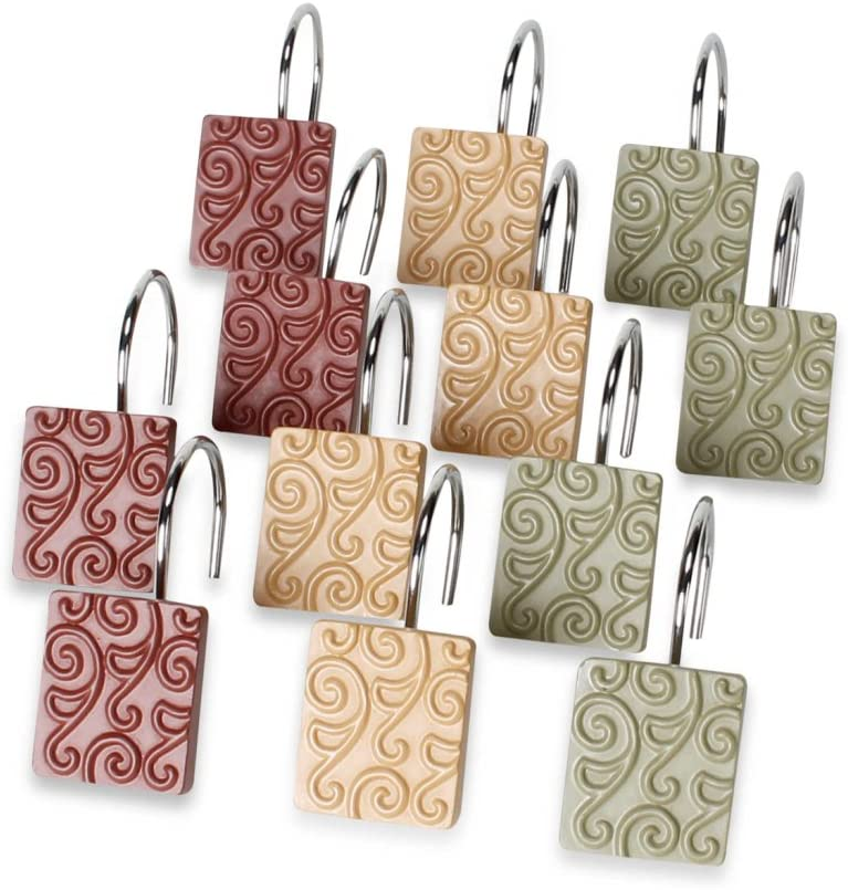 SKL HOME by Saturday Knight Ltd. Inspire Shower Curtain Hooks, 2.75x3.8x7.05, Multicolored