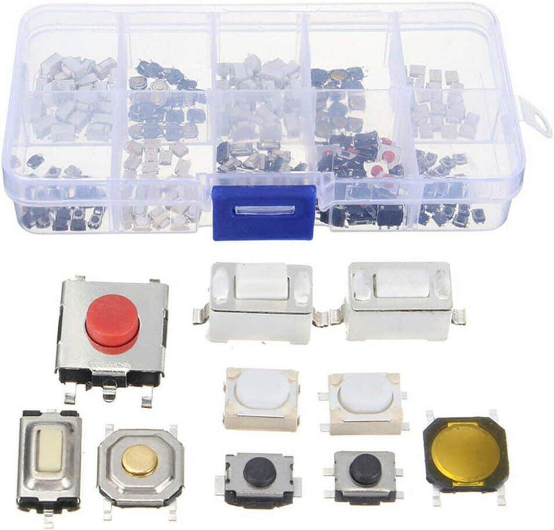 Noradtjcca Auto Fernbedienung knopfschalter kit 10 Arten taktile Taster Touch Schalter fernschl/üssel Taste mikroschalter