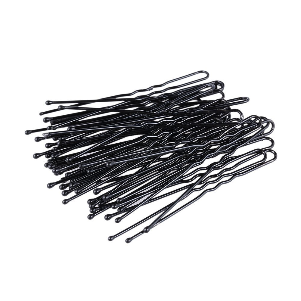 200Pcs Professional Black Bobby Pins U Shape Hair Pins for Women Girls and Hairdressing Salon(2.4 Inches) ICYANG