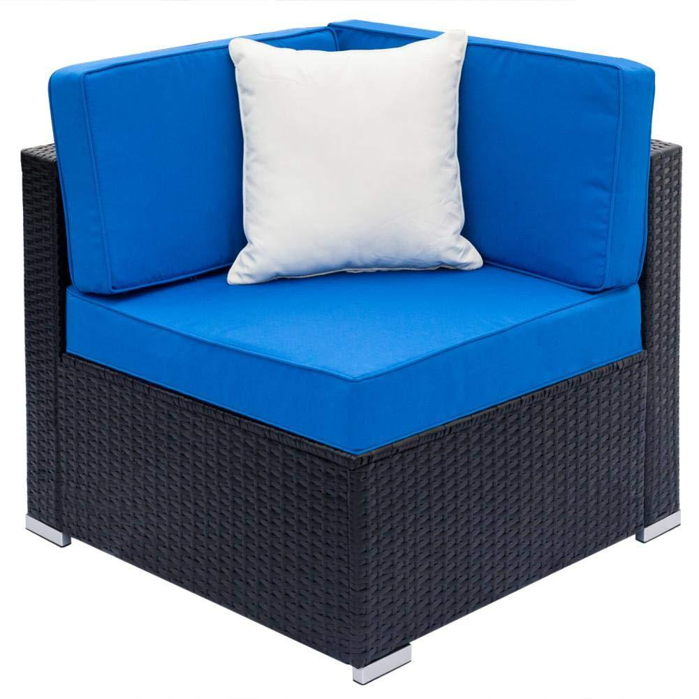 Amazon.com: Jannyshop Sofa Set with 2pcs Corner Sofas & 4pcs ...
