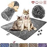 wonlex Super Soft and Fluffy Pet Blanket, Reversible Microplush Blanket for Pet Dog