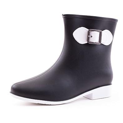 Vier Jahreszeiten Geringe Hilfe Mode Damen Regen Schuhe , black , 38