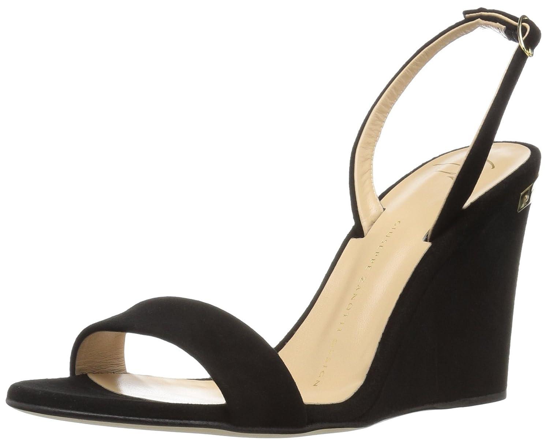 Giuseppe Zanotti Women's E70155 Wedge Sandal B01MXLBOC4 7.5 B(M) US|Nero/Black