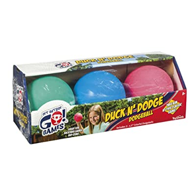 Toysmith Mini Dodge Ball Set Game Set of 3 Kickball for Younger Kids Assorted Colors: Toys & Games