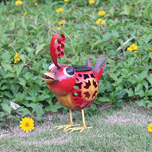 Metal Chicken Solar Light in US - 8