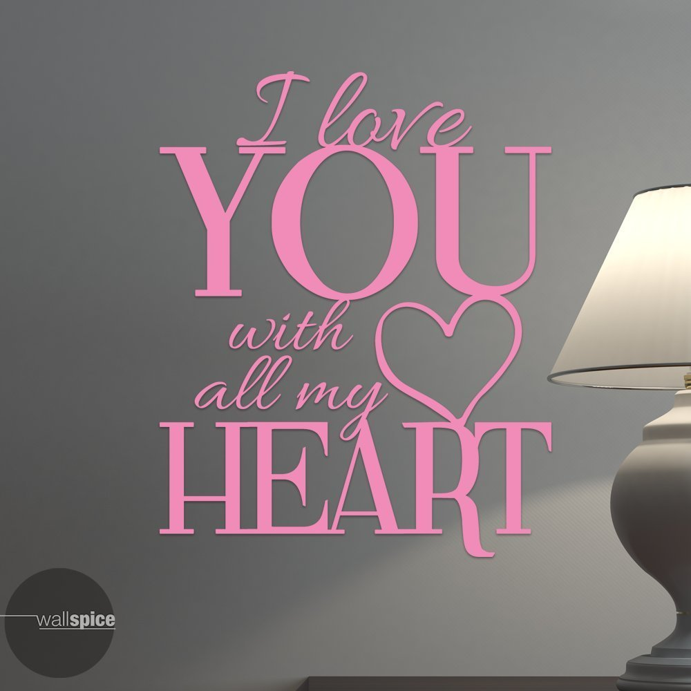 I Love You With All My Heart Vinyl Wall Decal Sticker