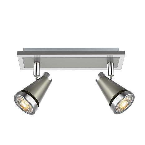 Ascher Foco LED para techo, Lámpara de techo LED incluye 2 x 5 W bombillas