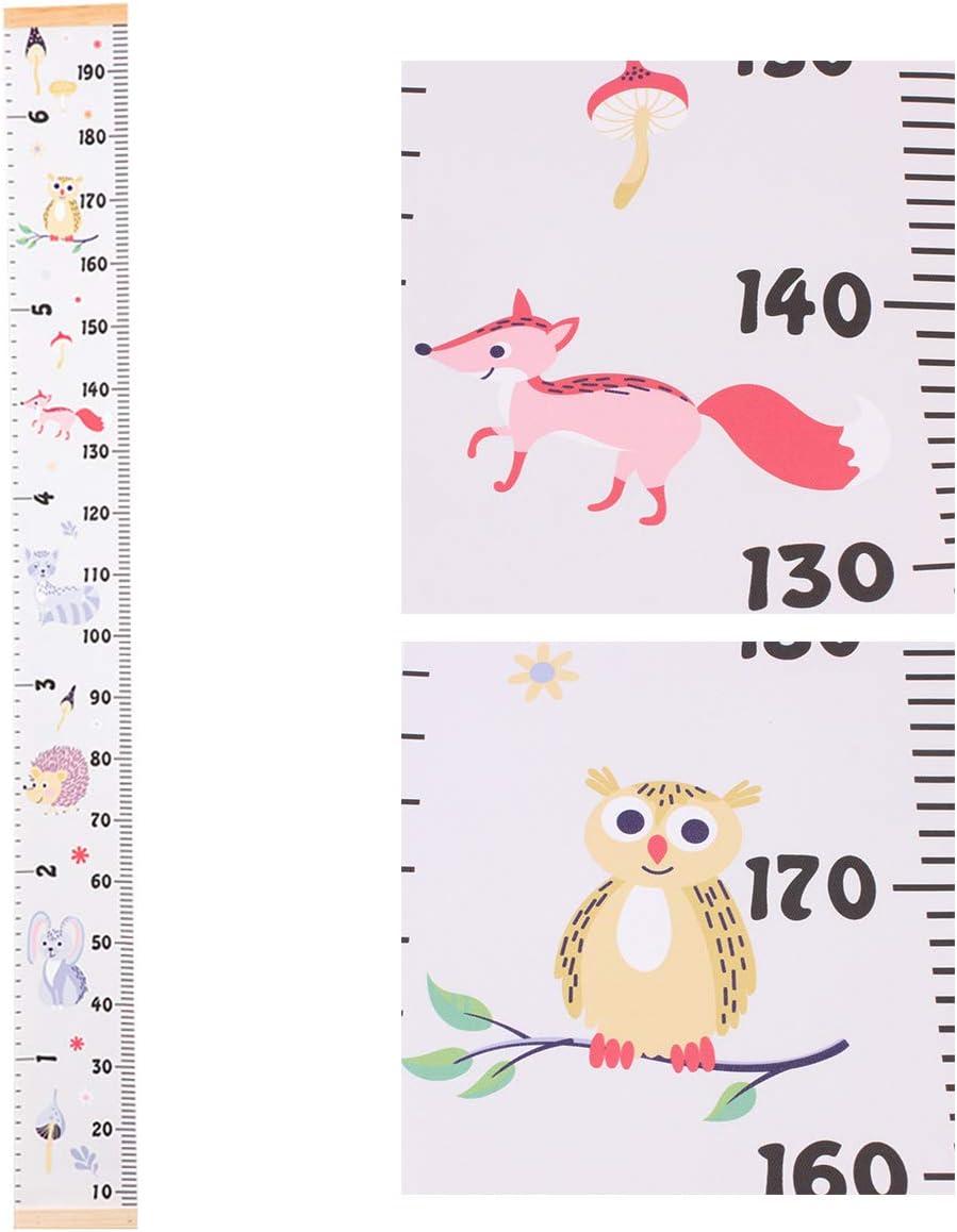 Pegatina de pared para ni/ños y beb/és regla de mano resistente al agua Tianhaik calcoman/ías de pared F extra/íble tabla de altura de crecimiento del beb/é