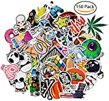 CandyHome 150 Pcs Vinyl Graffiti Stickers Decal for Laptop, Car, Motorcycle, Bicycle, Skateboard, Luggage, Bumper Stickers - Random Sticker Pack