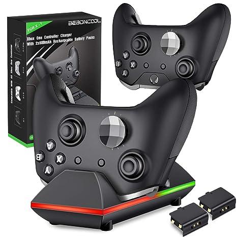 BEBONCOOL Xbox One Controlador Cargador Batería: Amazon.es ...