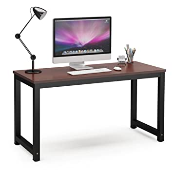 Superb Tribesigns Computer Desk, 55u0026quot; Large Office Desk Computer Table Study  Writing Desk For Home