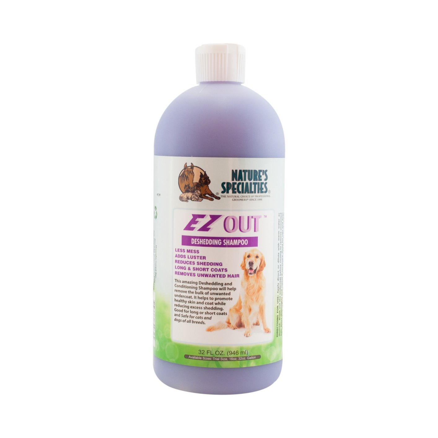 Nature's Specialties EZ Out Detangling Pet Shampoo, 32-Ounce