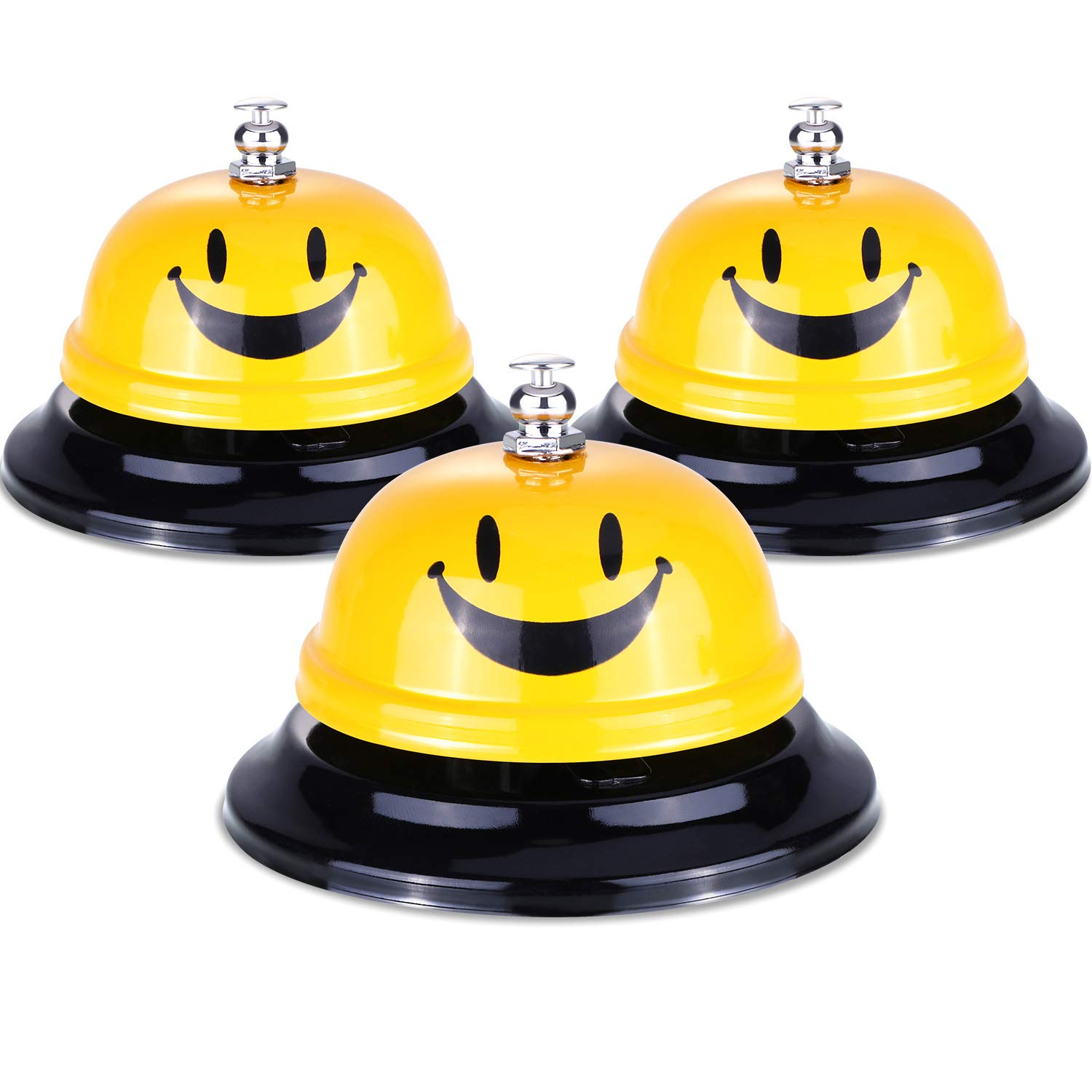 Leinuosen 3 Pieces Call Bell Customer Service Bell for Classroom Office Reception Restaurant Using, 3.3 Inches Diameter