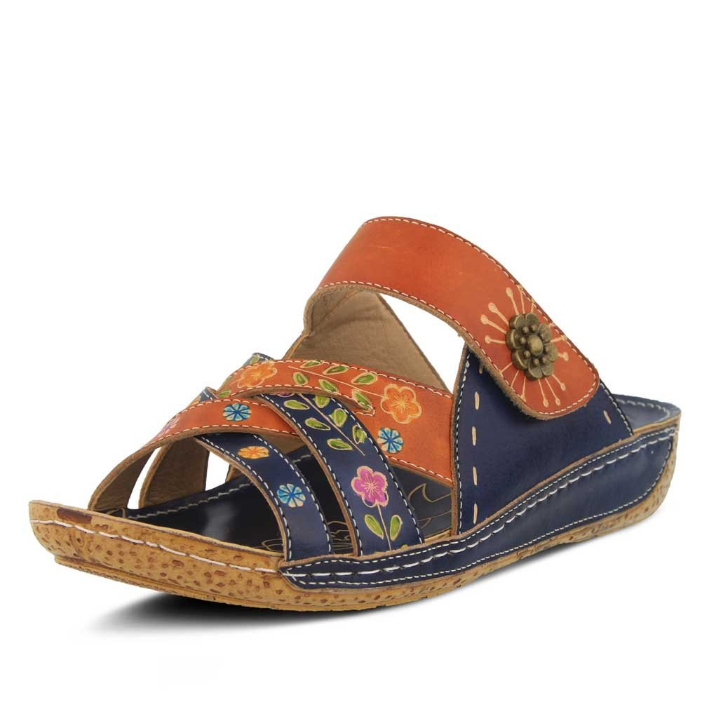 L'Artiste by Spring Step Women's Leigh Sandals B07954Z6QS 39 M EU|Navy Multi 3