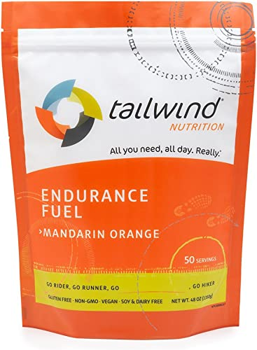 Tailwind Nutrition Mandarin Orange Endurance Fuel 50 Serving – Hydration Drink Mix with Electrolytes, Carbohydrates – Non-GMO, Gluten-Free, Vegan, No Soy or Dairy